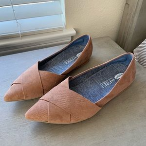 Dr. Scholl's Loma Pointed Toe Brown Flats 7.5